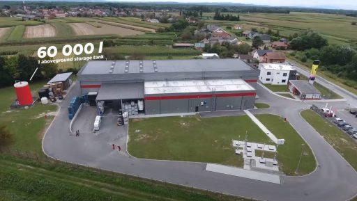 60 000 L storage tank in Alfacare in Croatia.