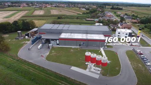 160 000 L underground storage tanks at Alfacare in Croatia.