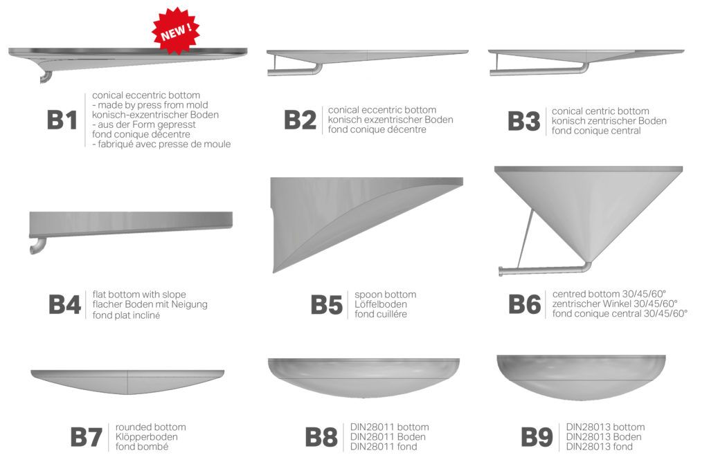 Catalog of tank bottoms.