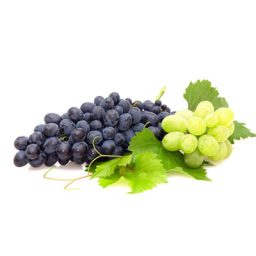 Red and white wine grapes.