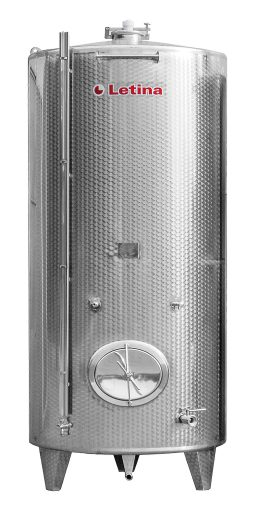 Insulated stainless steel tank from Letina.