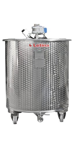 Stainless steel mixing tank with agitator from Letina.
