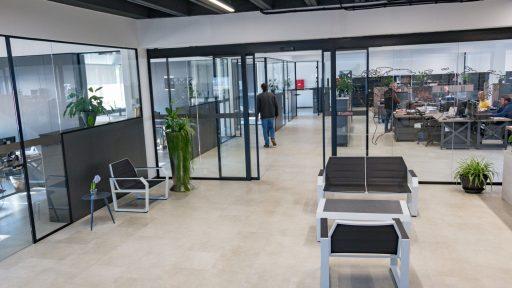 Letina office reception area.
