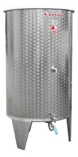 Stainless steel floating lid tank from Letina.