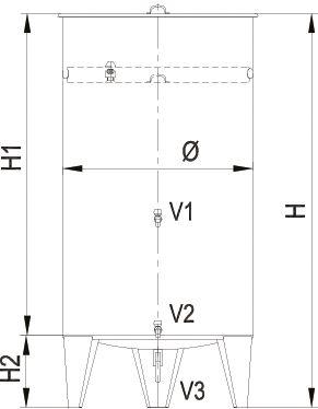 Blueprint of the air cap tank.