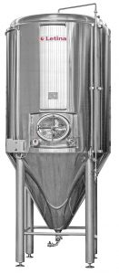 Stainless steel conical fermenter from Letina.