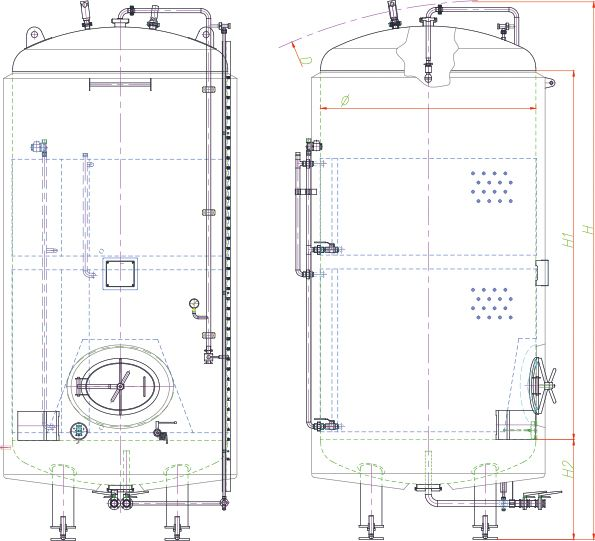 Blueprint of the brite tank.