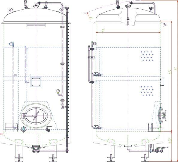Blueprint of the brite tank.