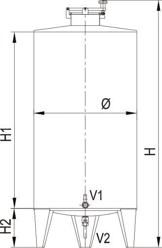 Blueprint of the brandy tank.