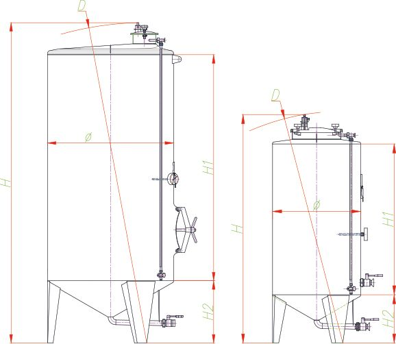 Blueprint of the olive oil storage tank.