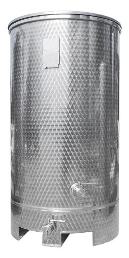 Stainless steel tank with a forklift skirt from Letina.