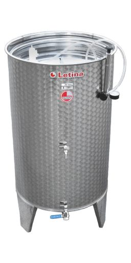 Stainless steel air cap tank from Letina.