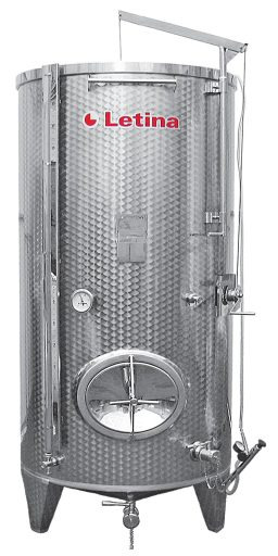 Stainless steel variable capacity tank from Letina.