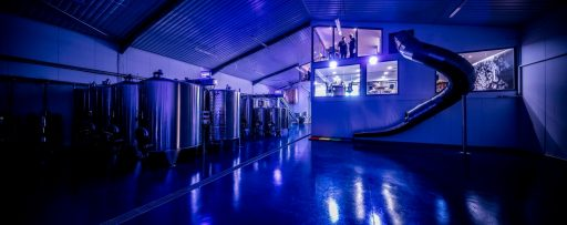 Artistic photo of the winery at the Simpsons Wine Estate in the United Kingdom.