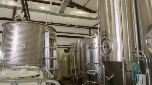 Letina stainless steel tanks in Superstition Meadery in Arizona, USA.