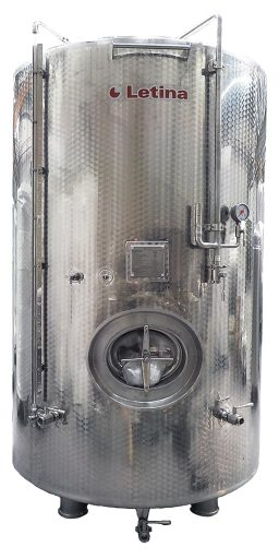 Stainless steel Charmat tank from Letina.