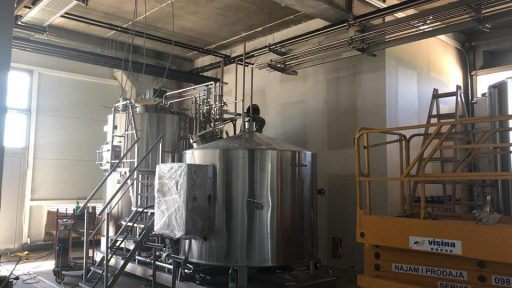 Letina mini-brewery in the Varionica brewery in Croatia.