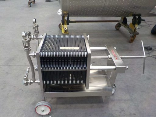 The VF plate and frame filter press (with 30 plates).