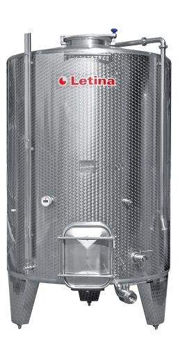 Stainless steel pump-over fermenter wine tank from Letina.