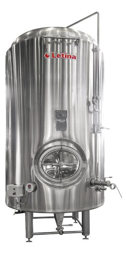 Stainless steel brite tank from Letina.