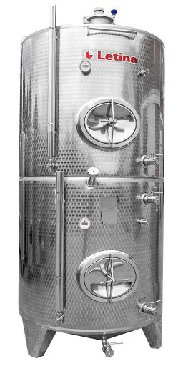 Stainless steel multi-chamber tank with multiple levels from Letina.