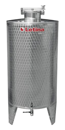Stainless steel brandy tank from Letina.